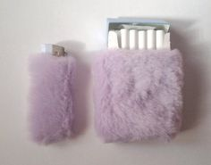 fuzzy cigarette and lighter cases