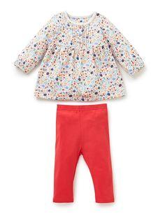 2 Piece Cotton Rich Floral Tunic & Leggings Outfit | M&S