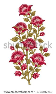 Find Mughal Flower Motif White Ground stock images in HD and millions of other royalty-free stock photos, illustrations and vectors in the Shutterstock collection. Textile Pattern Design, Textile Patterns, Textile Prints, Flower Motif, Flower Art, Hand Embroidery Patterns, Machine Embroidery Designs, Pichwai Paintings, Tie Dye Crafts