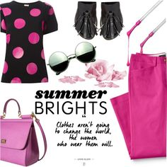 How To Wear Summer Brights and Polka Dots Outfit Idea 2017 - Fashion Trends Ready To Wear For Plus Size, Curvy Women Over 20, 30, 40, 50