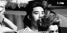 Pushes kai's and d.o's heads together * NOW KISS