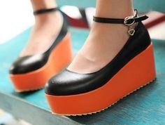 Womens Ladies Ankle Strap Punk Gothic High Platform Flat Creeper Shoes #A04 | eBay