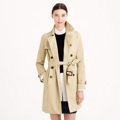 """this classic trench coat is 25% off right now at J. Crew with code """"NOWANDLATER"""""""