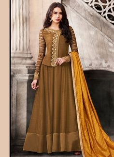 Anarkali Suit: Buy Latest Designer Anarkali Suits for Women Online Silk Anarkali Suits, Anarkali Dress, Pakistani Dresses, Indian Dresses, Indian Outfits, Long Anarkali, Ethnic Outfits, Abaya Fashion, Indian Fashion