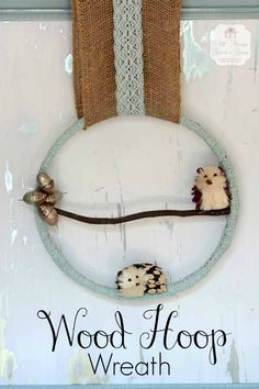 Wood Hoop Wreath