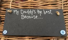 MadeAt94 Personalised Wooden Gifts Plaque for Daddy Black Chalkboard: Amazon.co.uk: Kitchen & Home Birthday Gift For Him, Unique Birthday Gifts, Boy Birthday, Happy Birthday, Black Chalkboard, Wooden Gifts, Keep It Cleaner, Gifts For Him, Daddy