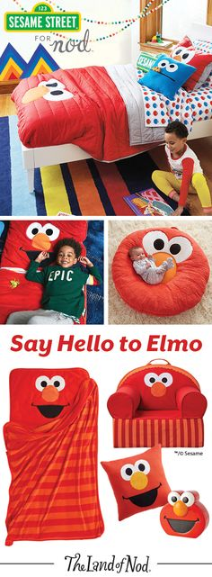 Say hello to Elmo and welcome one of Sesame Street's most beloved characters into your home. With kids bedding, toys, décor and more, we have plenty of ways to outfit a kids' bedroom or playroom for even the biggest Elmo fan.