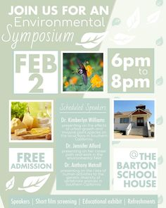 Grove's 1st #Environmental Symposium is tomorrow onFriday February 2 from 6-8pmin the Barton Schoolhouse. Coordinated by senior Skye B. guest speakers include Dr. Kimberlyn Williams speaking on invasive species and local plants; Dr. Jennifer Alford presenting on careers in environmental fields; and Dr. Anthony Metcalf speaking about human impact on genetic diversity. The event is free and refreshments will be provided. See you there! @grove_environmentalclub @grove.asb #theGroveschool…
