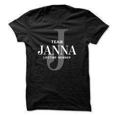 TEAM JANNA LIFETIME MEMBER - #retirement gift #novio gift. BEST BUY => https://www.sunfrog.com/Names/TEAM-JANNA-LIFETIME-MEMBER.html?id=60505