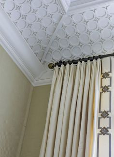 Window treatment & mill work! Fifth Avenue Pied a Terre. Beautiful banding on the leading edge of this panel!