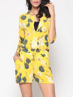 Lapel Dacron Floral Printed Blazer And Floral Dress - fashionmeshop.com