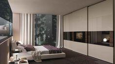 Tecnopolis sliding door Dama wardrobe with integrated Loewe TV 42'