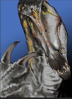 Reptiles, Mammals, Dinosaur Drawing, Dinosaur Art, Godzilla, Spinosaurus, Jurassic Park World, Extinct Animals, Prehistoric Creatures