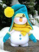 Yulia Gula's photos Sock Snowman, Cute Snowman, Snowman Crafts, Felt Crafts, Diy And Crafts, Snowmen, Christmas Makes, Felt Christmas, Christmas Snowman