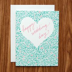 Wedding Card - Happy Cactus Designs Hand Illustrated Greeting Cards