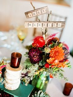 Love it! For bride and groom table