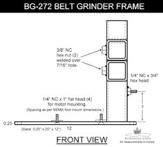 DIY plan to make a four wheel 2 x belt grinder. The frame is from HSS material. You can modify it however you like. Knife Grinding Jig, Knife Grinder, 2x72 Belt Grinder Plans, Diy Belt Sander, Knife Making Tools, Pvc Pipe Projects, Diy Belts, Blacksmith Tools, Metal Tools