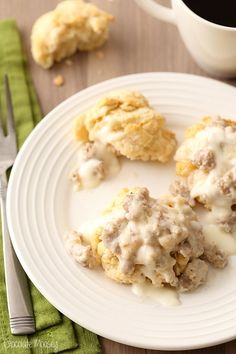 Take some time to relax for breakfast and enjoy freshly baked buttermilk drop biscuits with sausage gravy. Makes enough to feed two people. Delicious Breakfast Recipes, Savory Breakfast, Breakfast Dishes, Brunch Recipes, Sweet Recipes, Dessert Recipes, Breakfast Ideas, Pork Recipes, Fall Recipes