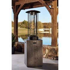 Signature Design by Ashley Hatchlands Brown Patio Heater (Patio Heater), Outdoor Décor