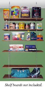 "Quick - Shelf Hangers Six Shelf 12"" Deep Ceiling Mount Shelving Unit"
