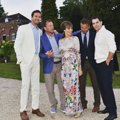 The men from U.N.C.L.E.: Armie Hammer, David Beckham, and Henry Cavill celebrated in style at the wedding of Guy Ritchie and Jacqui Ainsley. | Photo credit: Guy Ritchie