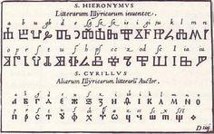 Illyrian Symbols | Illyrian alphabet from Johann Theodor and Johann Israel de Bry's 1596 ...: