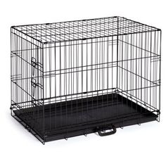Prevue Pet Products On-The-Go Single-Door Dog Crate, 24 inchL x 16-1/2 inchW x 20 inchH, Black