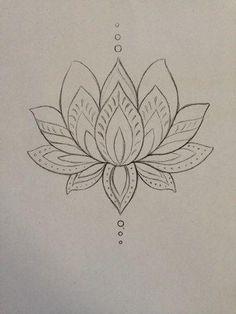 lotus zentangle doodle line drawing Lotusblume Tattoo, Tatoo Henna, Henna Art, Tattoo Drawings, Sternum Tattoo, Flower Drawings, Tattoo Shop, Tattoo Thigh, Drawing Flowers