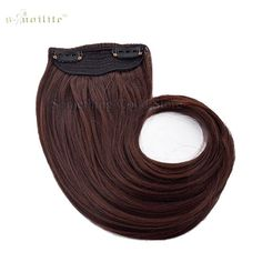 "SNOILITE Long 9"" Bangs Girls Side Bangs Fake Fringe Synthetic Clip in Hair Extensions Brown"