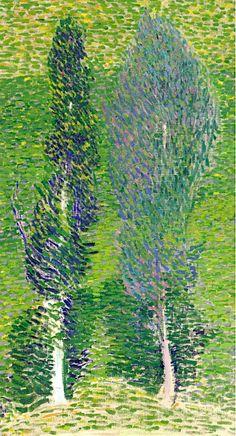 Cuno Amiet (Solothurn 1868 - 1961 Oschwand): Zwei Bäume, 1900-1902.
