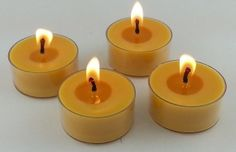 24 ORGANIC Beeswax Tea Light Candle Clear by CandleBakeryCandles, $18.00