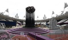 Game over: The Olympic flame was put out last night- August 12, 2012.  .....London, England