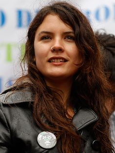 Camila Vallejo, the 23-year-old student who led the student uprisings in Chile. You go girl!