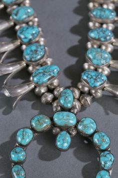 Navajo Hand Made Squash Blossom Sterling Silver Necklace Kingman Turquoise | Jewelry & Watches, Ethnic, Regional & Tribal, Native American | eBay!