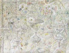 Flora in Calix Light David Jones. Kettle's Yard, Cambridge. © the Estate of David Jones. David Jones Artist, Raoul Dufy, Before Us, Pilgrimage, All Art, Art Boards, Flower Art, Printmaking, Vintage World Maps
