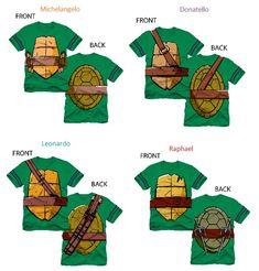 TMNT Teenage Mutant Ninja Turtles Striped Sleeves Boys Costume T-shirt (halloween dguisement ado) Turtle Birthday Parties, Ninja Turtle Birthday, Ninja Turtle Party, Ninja Turtle Shirts, 4th Birthday, Turtle Costumes, Boy Costumes, Costume Shirts, Family Costumes