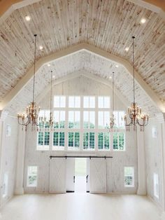 Such a beautiful, elegant, white barn! (Wedding venue, home, etc)