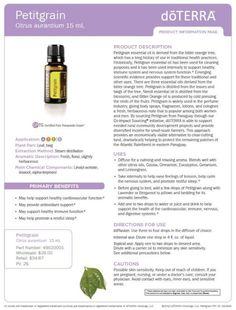 doterra petitgrain essential oil uses