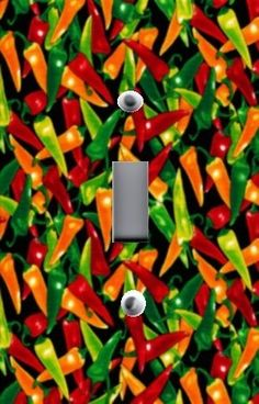 RED CHILI PEPPERS KITCHEN HOME WALL DECOR SINGLE LIGHT SWITCH PLATE