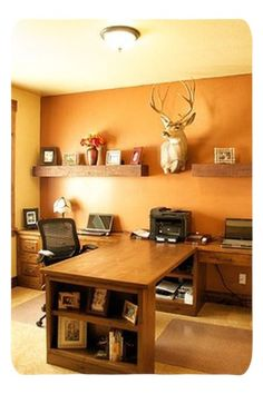 Home Office Decor. Home business office and home study style creative ideas such as tips for limited area desk ideas designs and drawers. Create a work ... & Cool Office Decorating Ideas for Men with True Beauty and Elegance ...