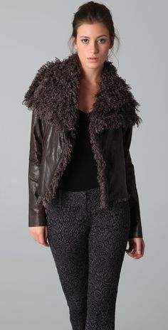 faux fur and faux leather (and much cheaper)
