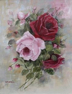 'Bouquet of Roses'  by Gail McCormack  -  Original Painting