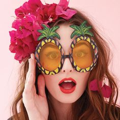 Pineapple sunnies ($10 at ban.do) | http://www.hercampus.com/style/9-totally-extra-sunglasses-will-step-your-coachella-fashion-game