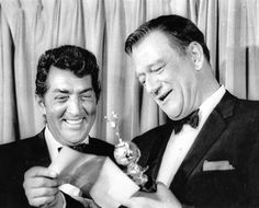 Feb 15th, 1967; Dean Martin wins the Golden Globe for 'Most Popular Male TV Personality' (This photo MAY be from Jan 31st 1966 as Dean presents the Cecil B. DeMille Award to John Wayne at the Golden Globe Awards)