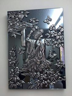 Wall decor Open order Made by order Costum Size or Design Material : Tembag. Pewter Art, Pewter Metal, Metal Projects, Metal Crafts, Feuille Aluminium Art, Aluminum Foil Crafts, Tin Foil Art, Emboss Painting, Metal Embossing