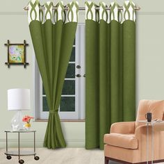 Vorhang Green Eyelet Curtain - Possessing six variations, this beautifully designed eyelet curtain from Vorhang will definitely bowl you over with aplomb! Crafted from the best polyester, this marvel looks really vibrant and soothing in its shade of green.