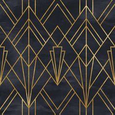 Removable Peel 'n Stick Wallpaper, Self-Adhesive Wall Mural, Geometric Gold Lines Pattern, Nursery Baby's Room Decor Casa Art Deco, Arte Art Deco, Motif Art Deco, Art Deco Stil, Art Deco Pattern, Art Deco Design, Art Deco Wall Art, Art Deco Print, Art Deco Decor