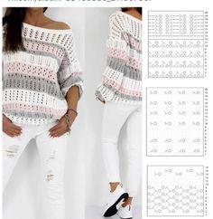 Crochet Bib, Crochet Girls, Crochet Cardigan, Lace Knitting Patterns, Knitting Stitches, Knit Fashion, Crochet Clothes, Sweaters For Women, Finger Knitting Projects