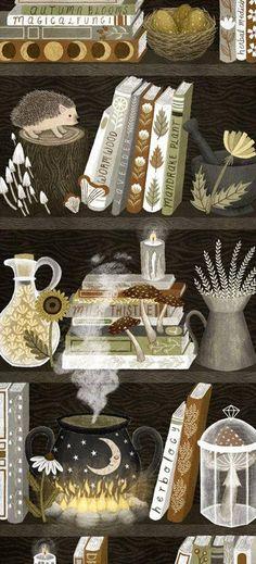 Art And Illustration, Illustrations, Pixel Kawaii, Bookmark Printing, Witch Art, Witch Aesthetic, Grafik Design, Magick, Cute Art