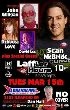 Tuesday Mar. 15th @ 10pm http://adrenalinesportsbarlv.com Las Vegas